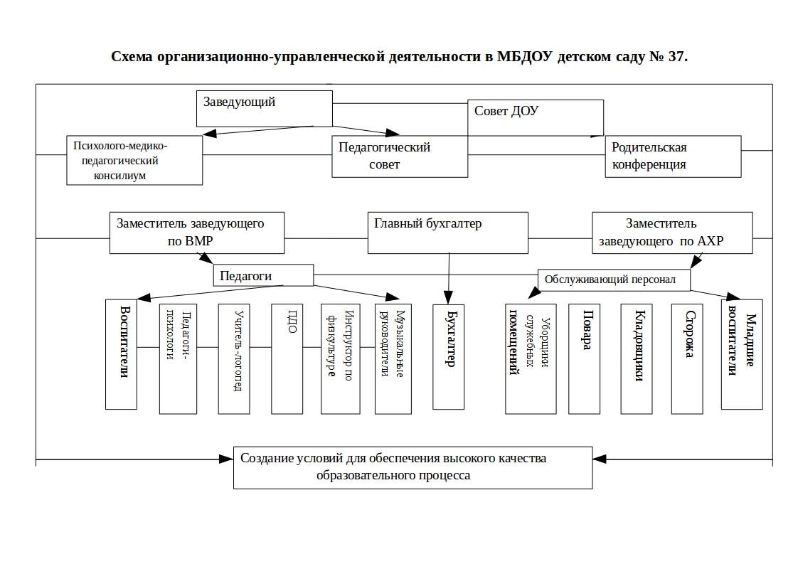 структура и органы управления ДОУ №37